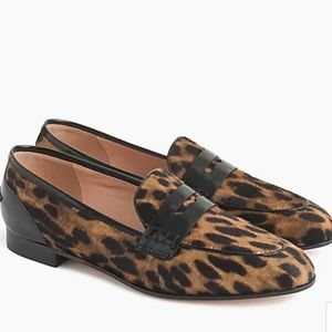 J. Crew Academy Penny loafer in leopard calf sz6.5